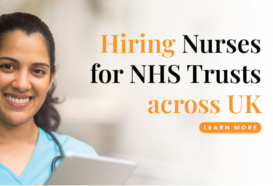 Hiring Nurses for NHS trusts across the UK.